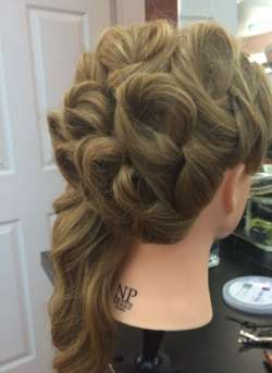 elegant party hairstyle