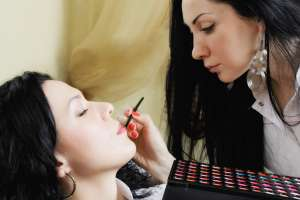 National Institute Student Applying Makeup