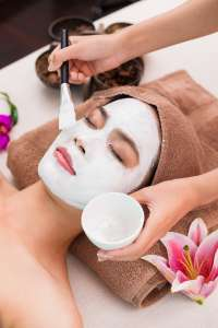 National Institute Student Giving a Ayurvedic Facial