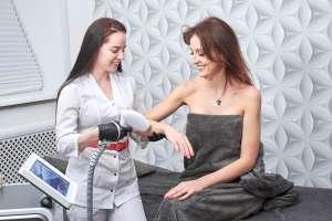 Student Demonstrating Laser/IPL Hair Removal